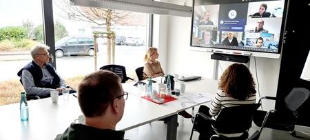 Gruppe Videokonferenz